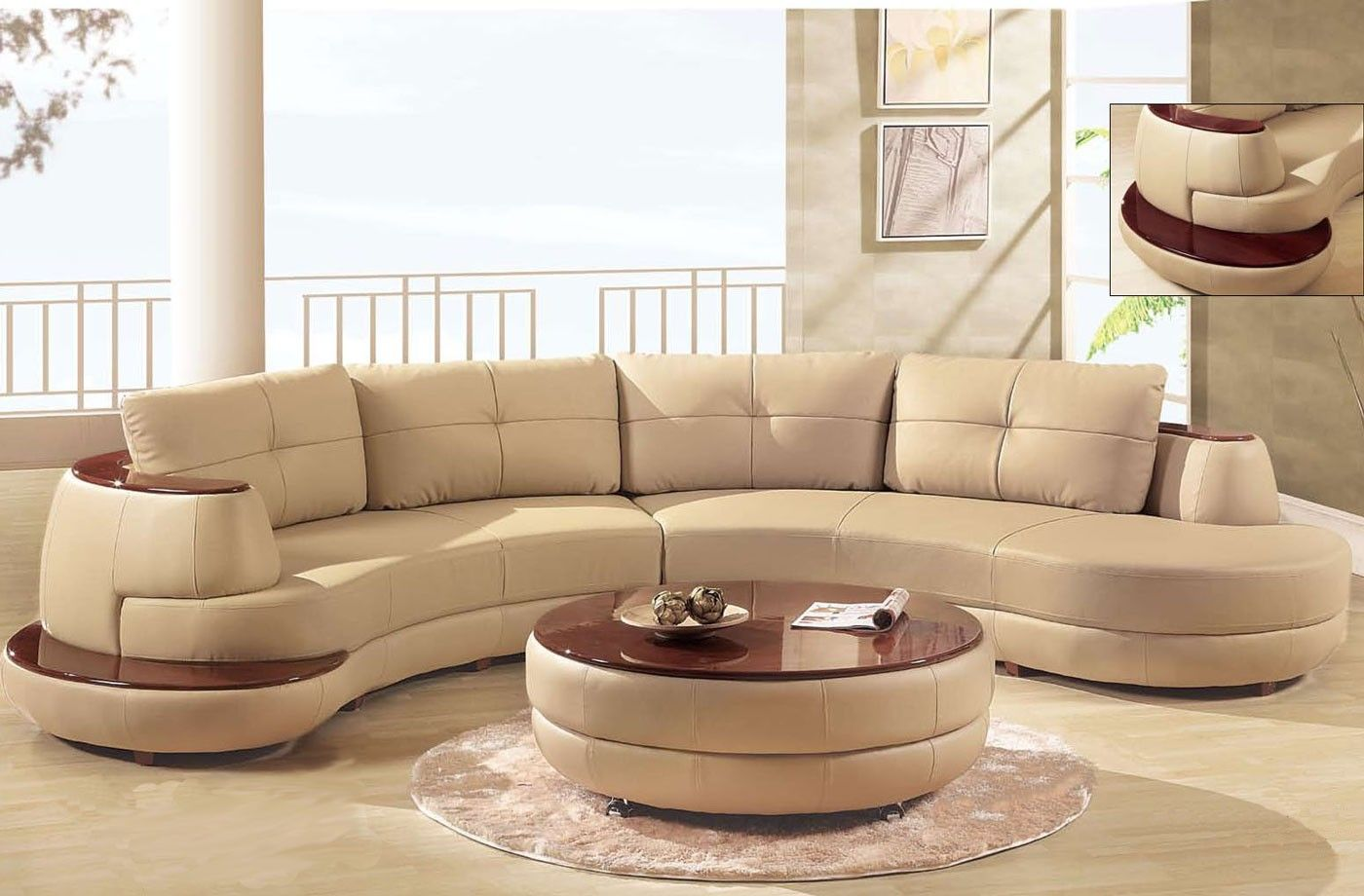 luxury beige sectional curved shaped sofa design ideas for living rh pinterest com