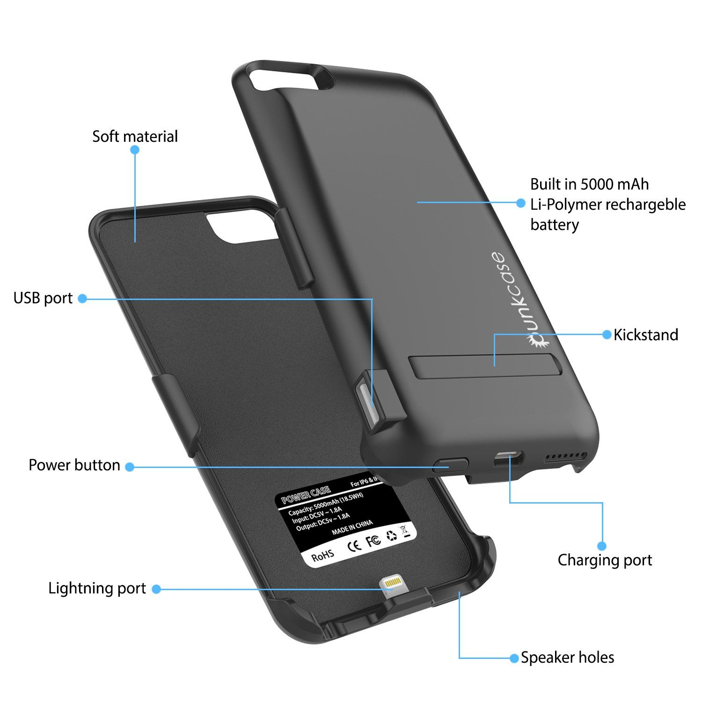 iPhone 7 Battery Case PunkJuice 5000mAH Charger Case W