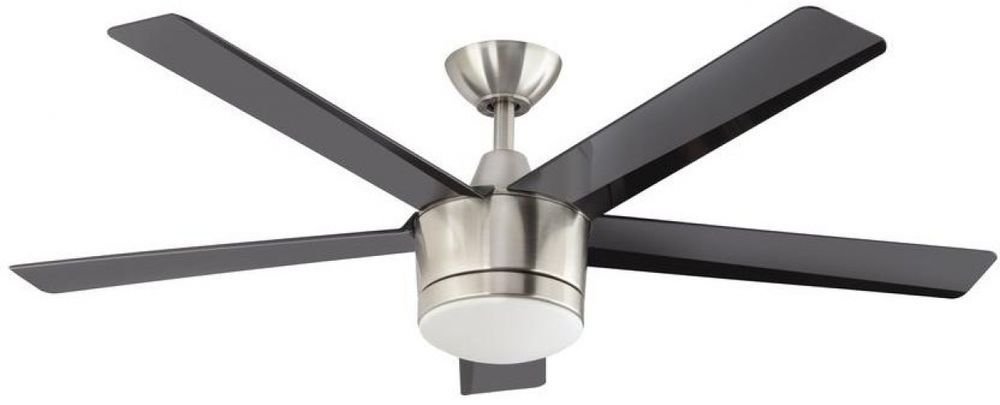 52 In Led Indoor Brushed Nickel Ceiling 3 Sd Fan With Remote Dimmable Light