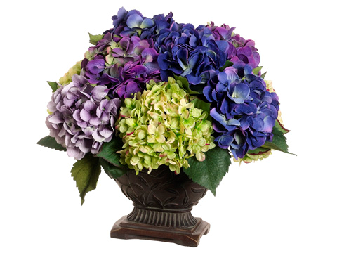 Price 219 99 This Lavish Bouquet Of Purple Hydrangeas With Hues Of Blooms Hydrangea Arrangements Hydrangea Flower Arrangements Silk Hydrangeas Arrangements
