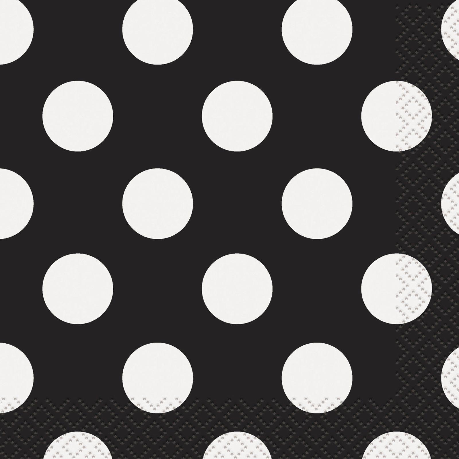 Black and White Dots Beverage Napkins (16) from BuyCostumes.com