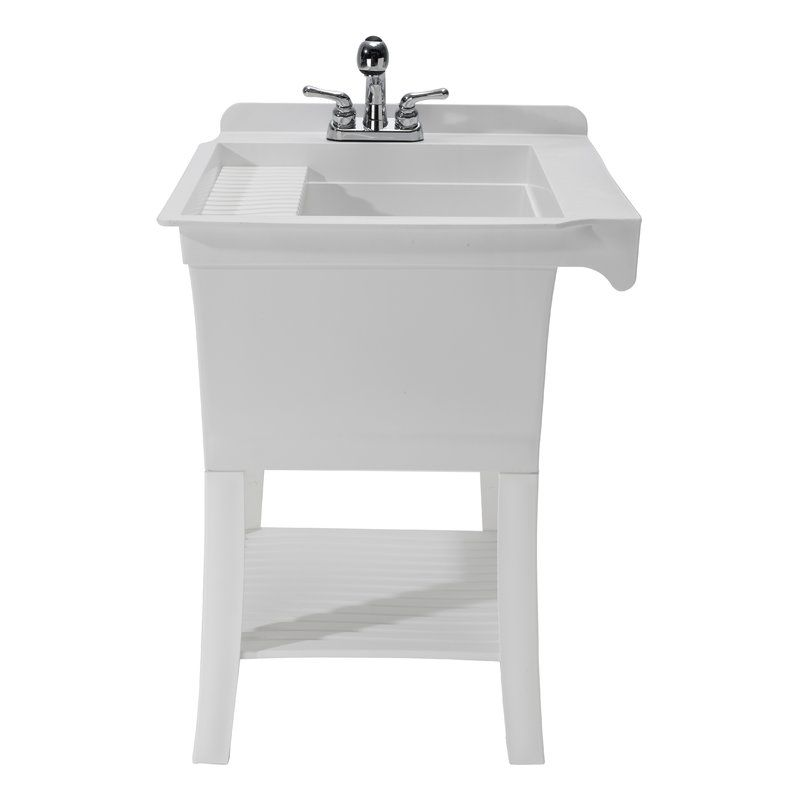 Maddox Workstation 24 38 X 25 75 Freestanding Laundry Sink With Faucet Utility Sink Sink Faucet