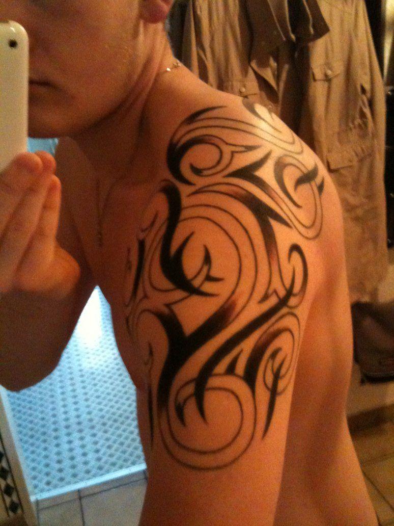 nice Tribal Shoulder Tattoos For Men   Stylendesigns.com   Tribal ...
