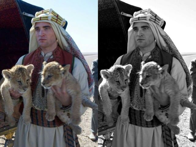 """New BTS pic of Rob in """"Queen of the Desert"""""""