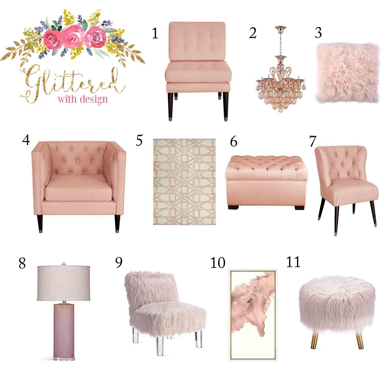 Color Crush Blush Pink Home Decor Pink Home Decor Home Decor Bedroom Night Stands