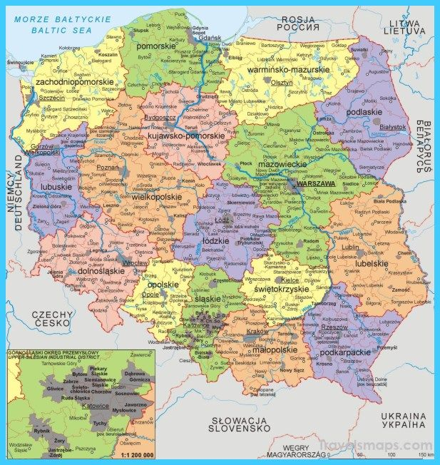 Map Of Poland Poland Poland History Map