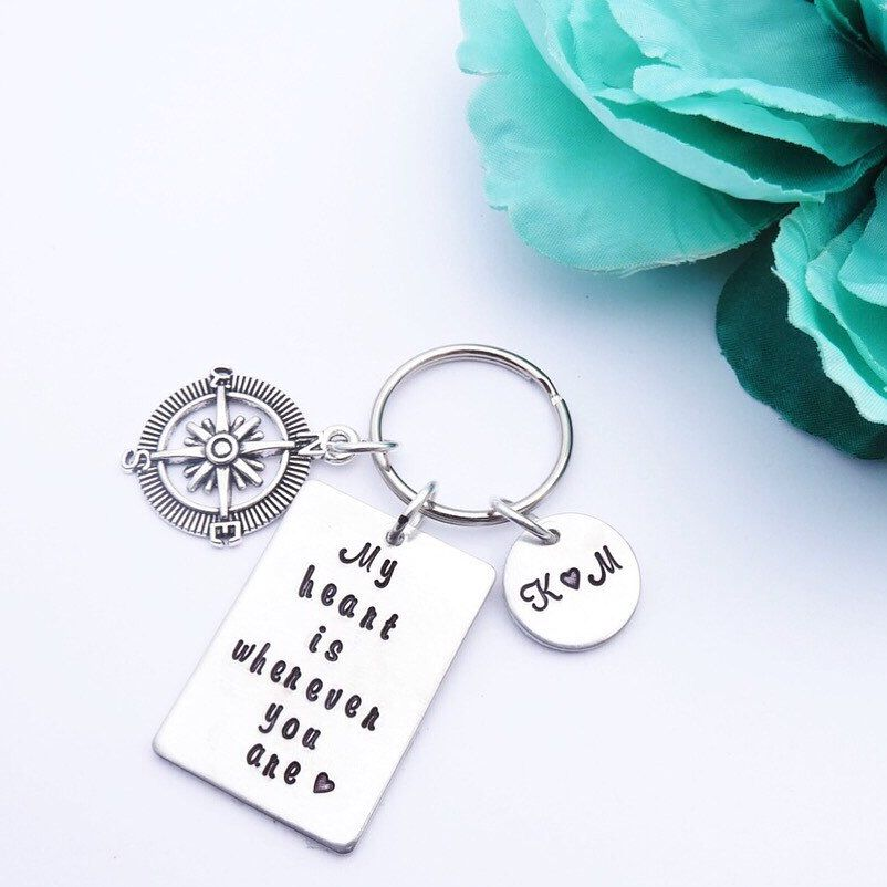 Long Distance Gift Long Distance Relationship Gift For Her Compass Rose Ring
