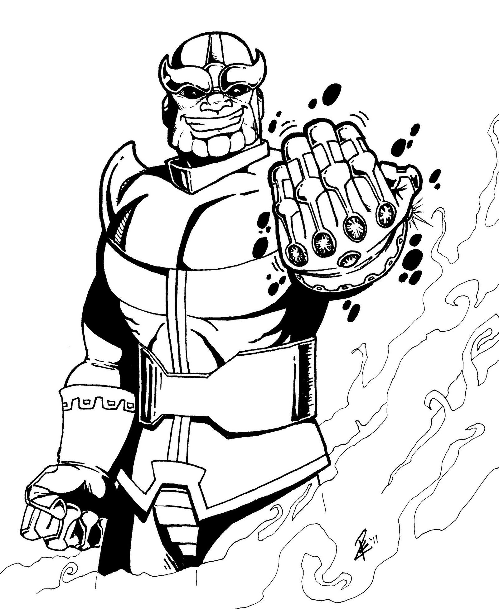 Thanos Guardians Of The Galaxy Coloring Sheet