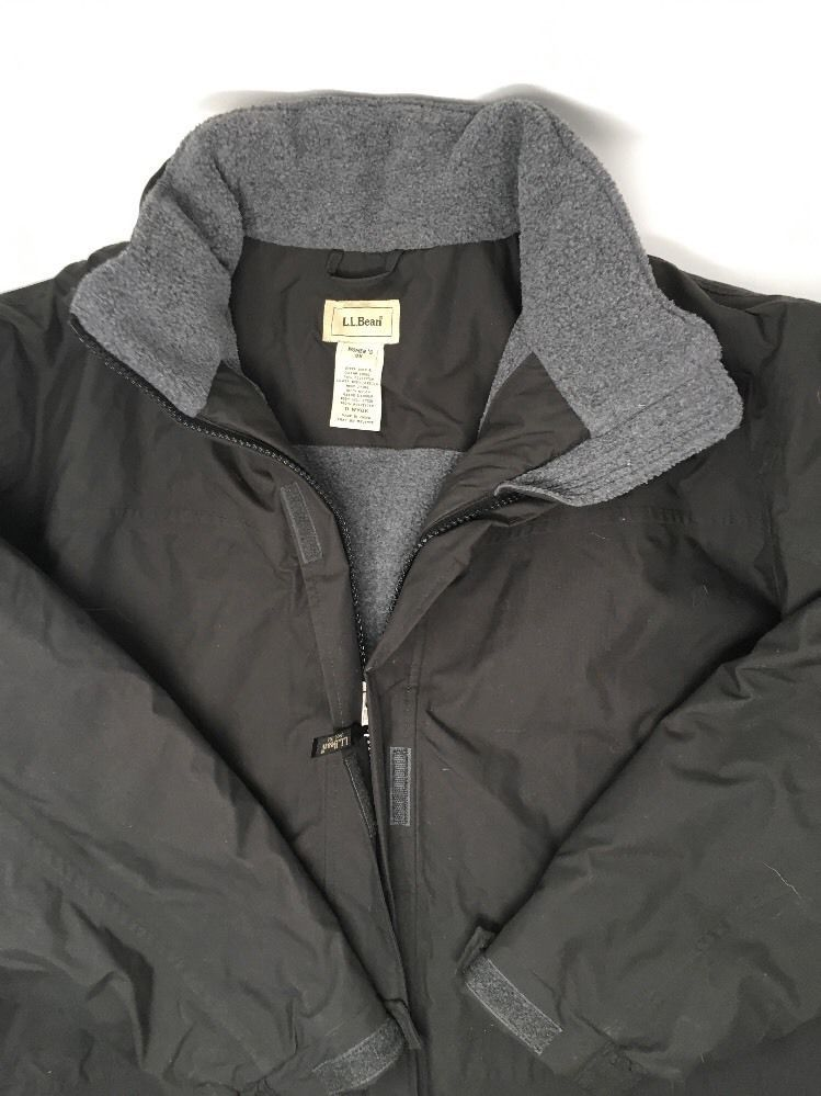 f77ba9d462c21 LL Bean Women s Plus Size 3X Black Winter Coat Parka Jacket Nylon  LLBean   Parka