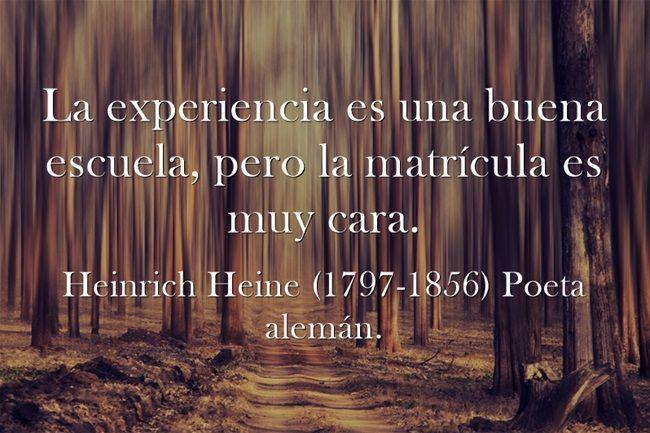 Heinrich Heine (1797-1856) Poeta alemán. #citas #frases