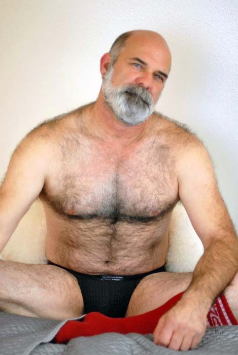 Hairy man mature old