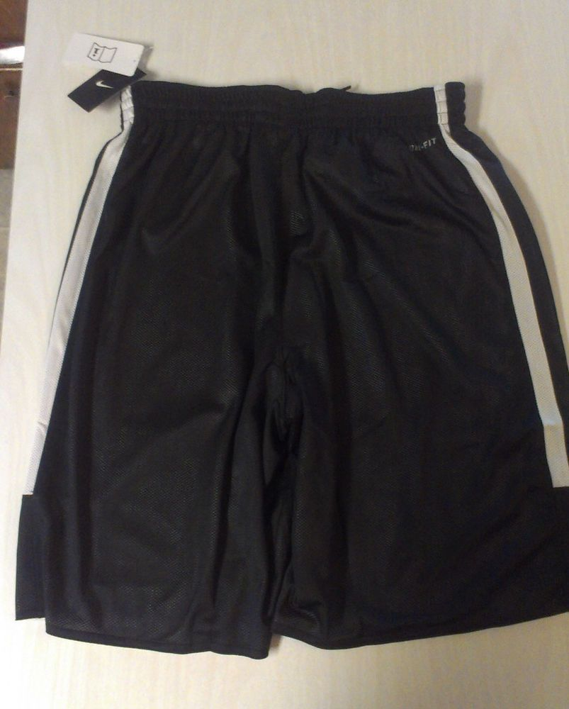 MEN'S LARGE SHORTS NIKE REVERSIBLE BLACK/WHITE TRAINING #NIKE #Shorts