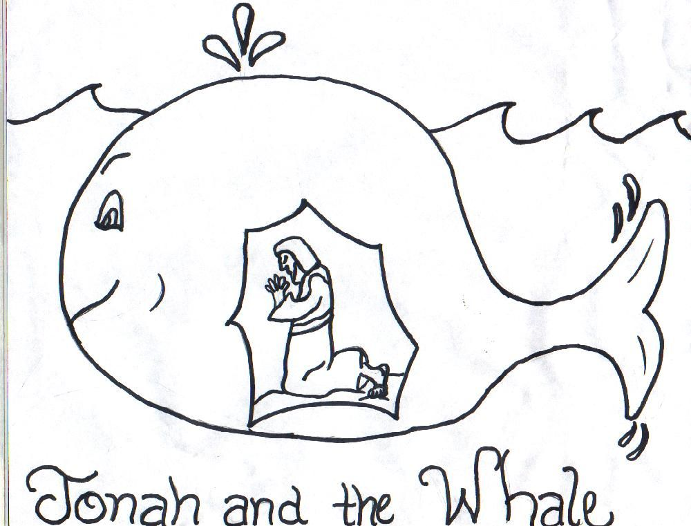 Jonah and the whale coloring sheet