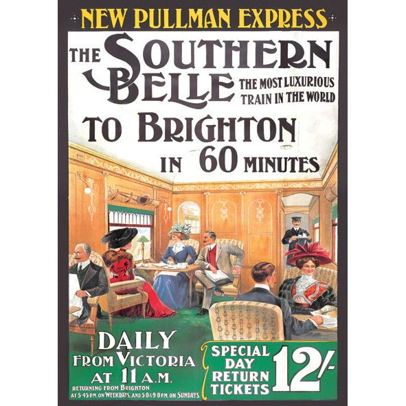 Southern Belle London To Brighton Postcard Preview ...