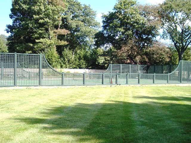 Lattice Tennis Court Fencing WOOD FENCE Pinterest Fences