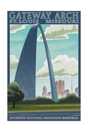 "St.Louis Missouri Arch Poster 16/""x24/"""