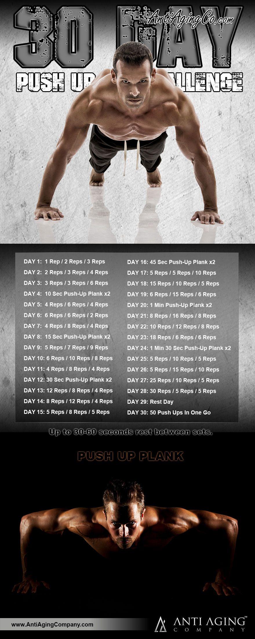 30 day push up challenge fitness challenge pinterest poids de musculation exercices et. Black Bedroom Furniture Sets. Home Design Ideas