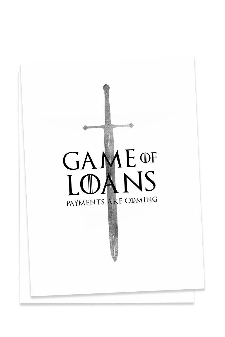 Deaneries targaryen never had to pay fcking student loans standard standard x greeting card blank inside for personal customization each card comes with a white envelope kristyandbryce Image collections