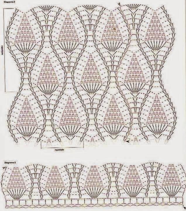 Häkelmuster Fundgrube: Top im Ananas-Muster | ananasmuster ...