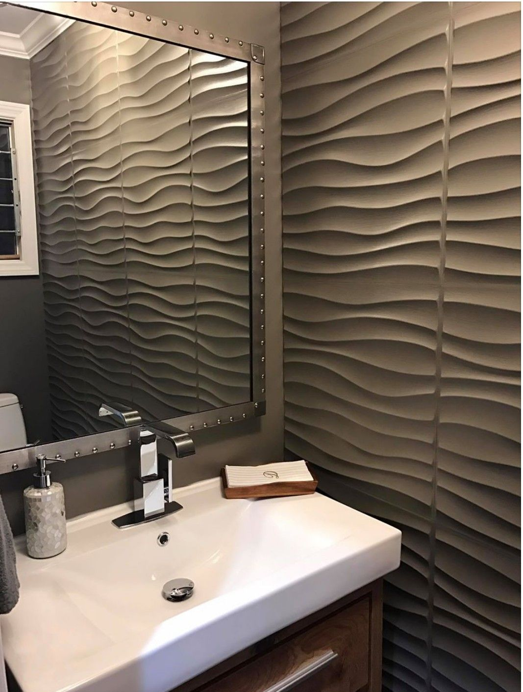 Pin by Cyd on Industrial bathrooms | Mdf wall panels, Wall ...