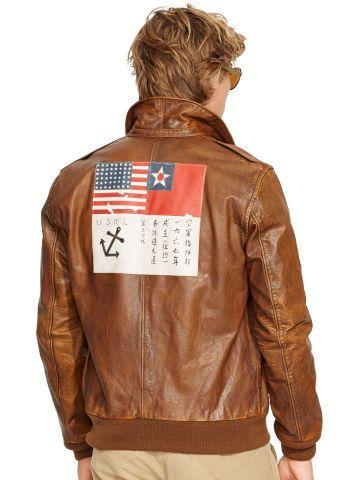 3073d9b45 Leather Farrington A2 Jacket - Polo Ralph Lauren Leather & Suede ...