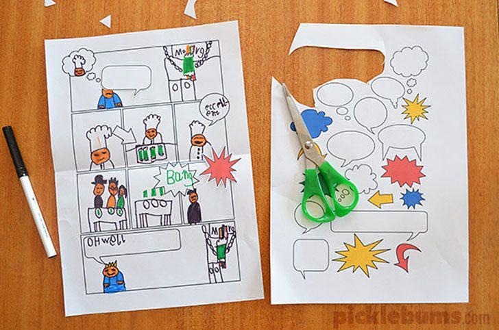 Jugar y crear: plantillas para hacer cómics DIY   Cómics, Crear y ...