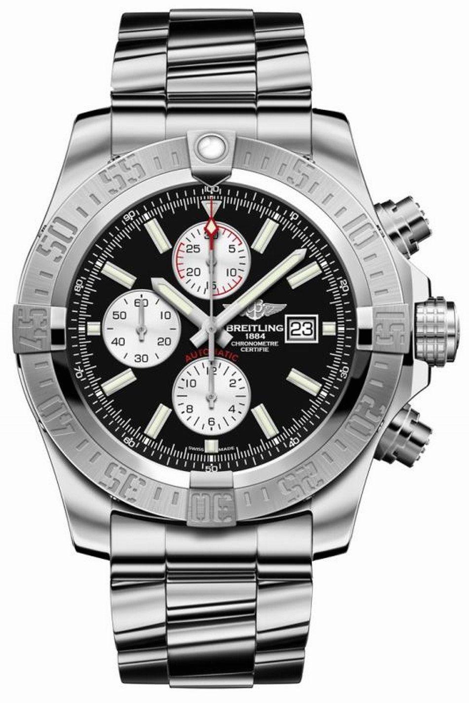 817dd9f499c Breitling Super Avenger II Stainless Steel  Watch