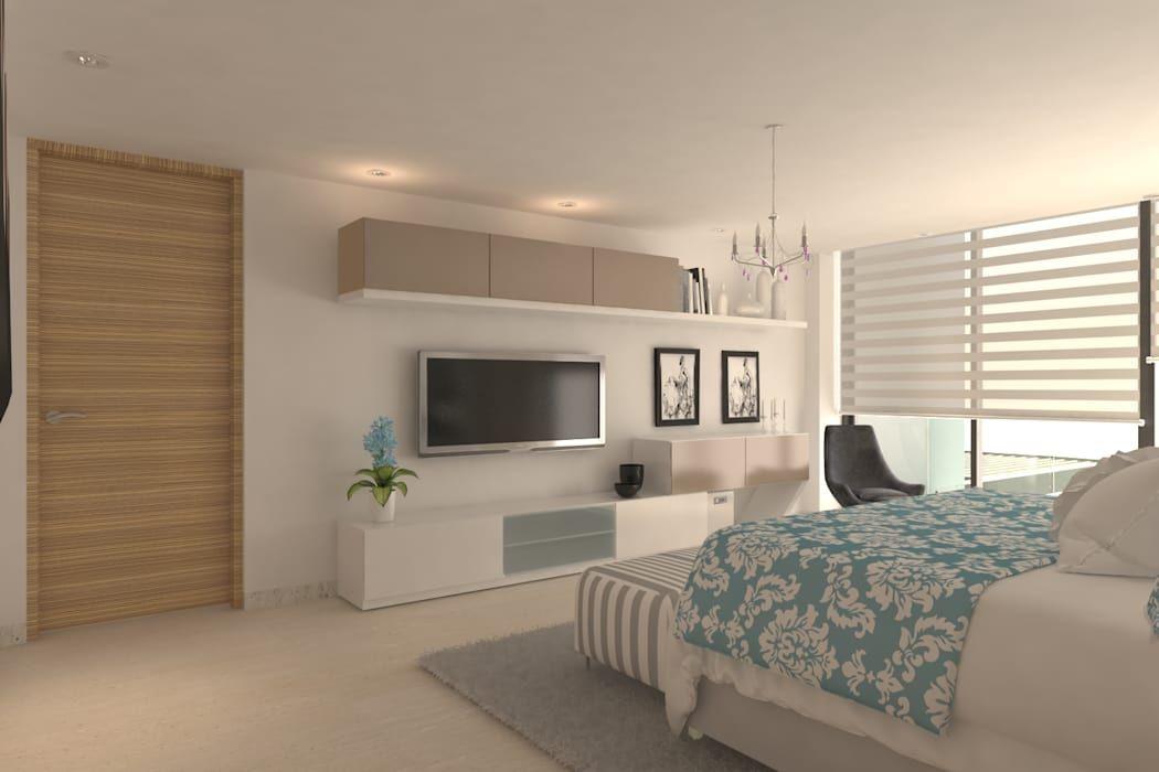 Dormitorio principal habitaciones modernas de area5 arquitectura sas moderno