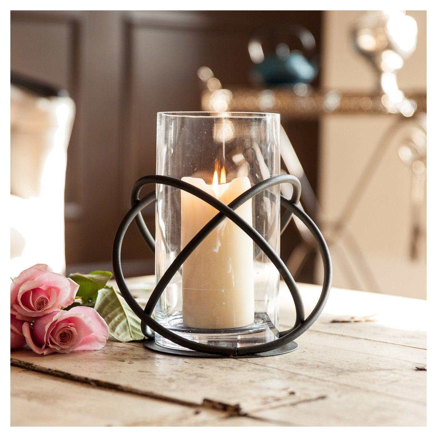 Metal Glass Single Candle Holder Black Danya B Glass Hurricane Candle Holder Hurricane Candle Holders Elegant Candle Holders