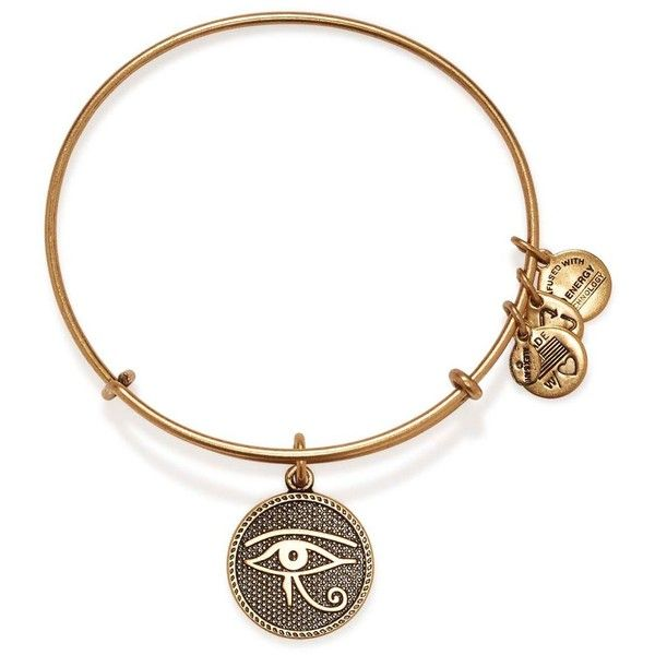 Alex and Ani Eye of Horus II Expandable Wire Bangle ($28) ❤ liked on Polyvore featuring jewelry, bracelets, bracelet bangle, egyptian charms, bangle bracelet, alex and ani bangles and alex and ani charms