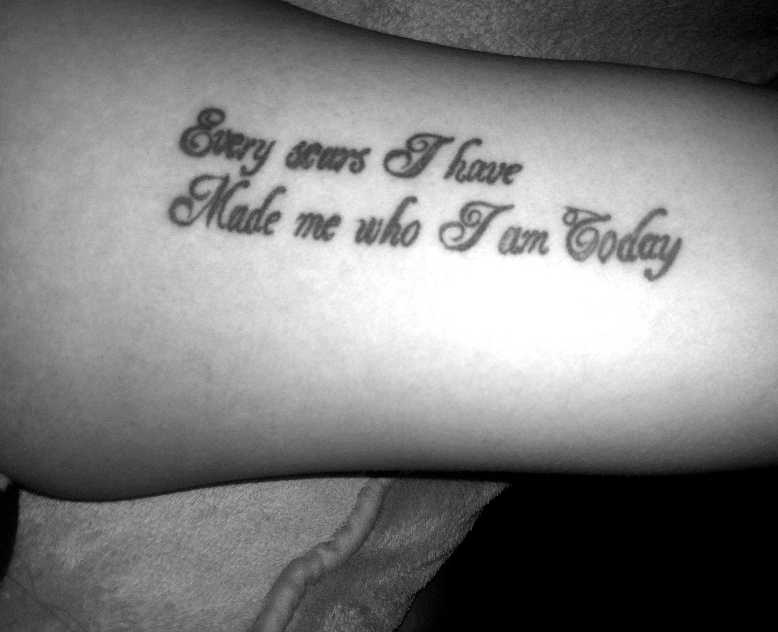 Every Scar I Have Made Who I Am Today Tattoo Innerarm