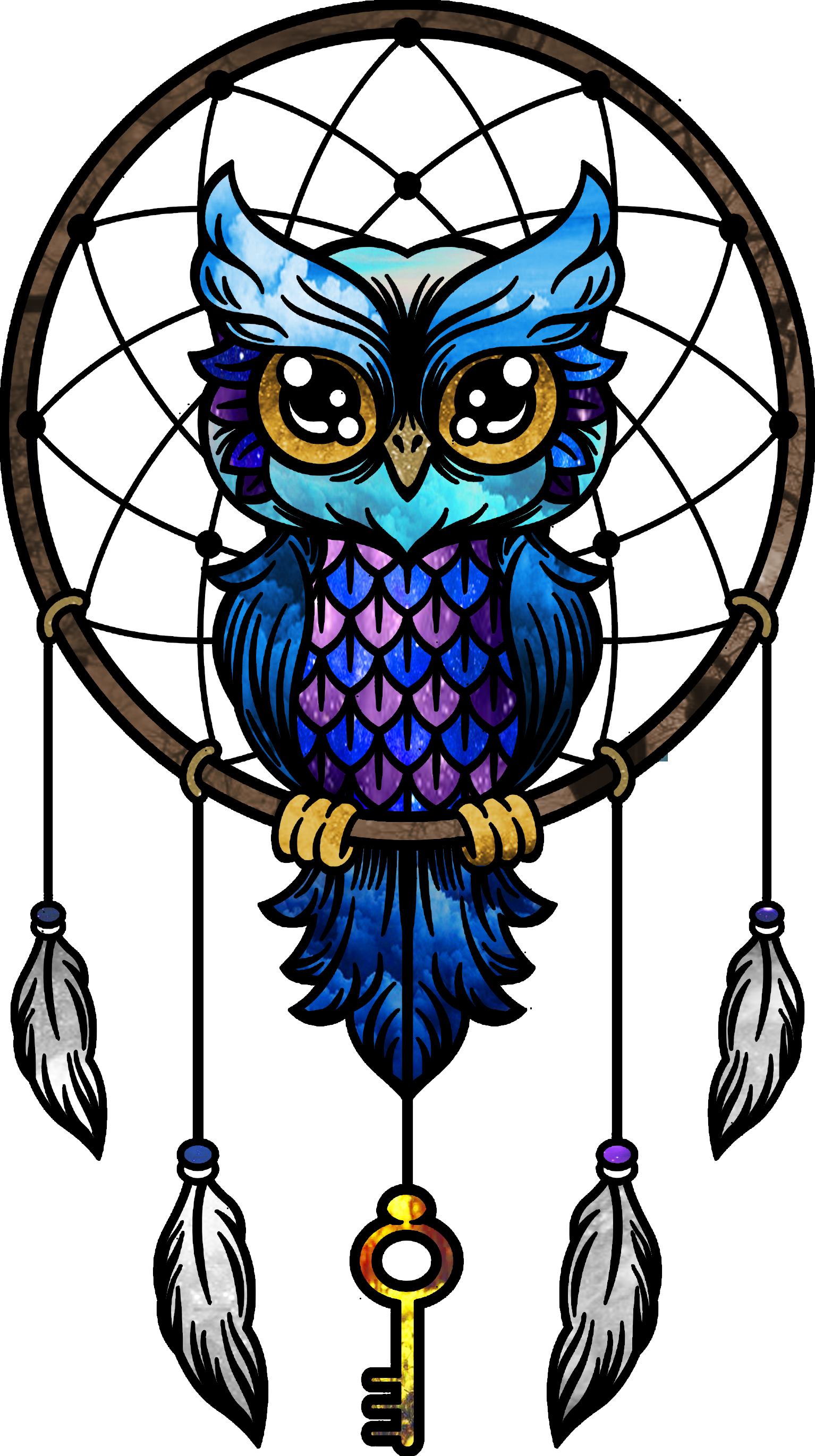 Bu Baykusu Sakinlige Ve Huzura Saliyorum Owls Drawing Bird Drawings Dreamcatcher Wallpaper