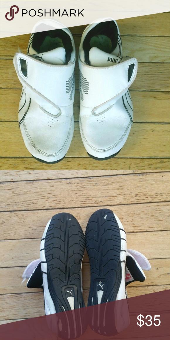 Puma Mostro perf Ext whiteblack Leather Trainers
