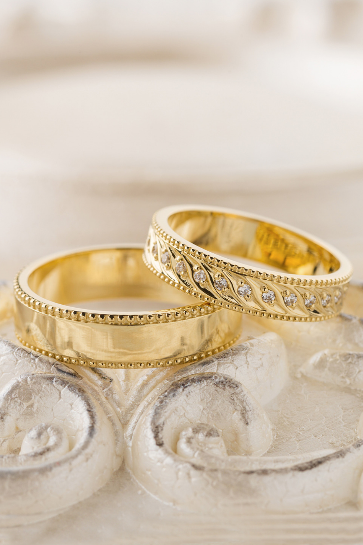 Gold Wedding Bands Unique Wedding Bands Matching Wedding Rings