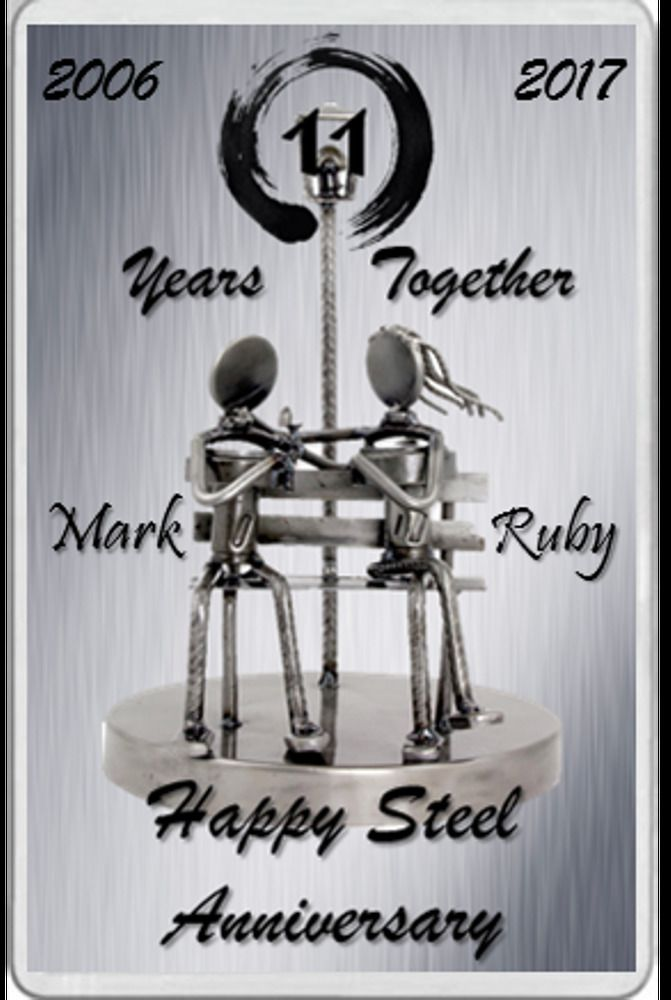 Fridge Magnet Married 11 Years Steel Wedding Anniversary Gift Personalised Steel Anniversary Gifts Wedding Anniversary Gifts Anniversary