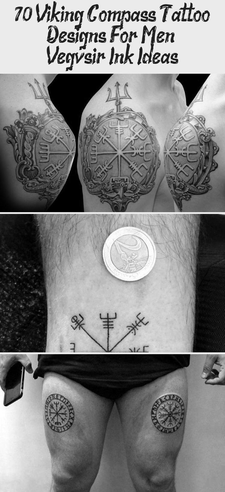 70 Viking Compass Tattoo Designs For Men Vegvísir Ink