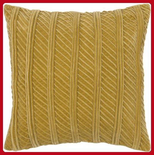 Rizzy Home TR4026 Applique Gathers and Cording Details Decorative Pillow, 20 by 20-Inch, Gold - Improve your home (*Amazon Partner-Link)