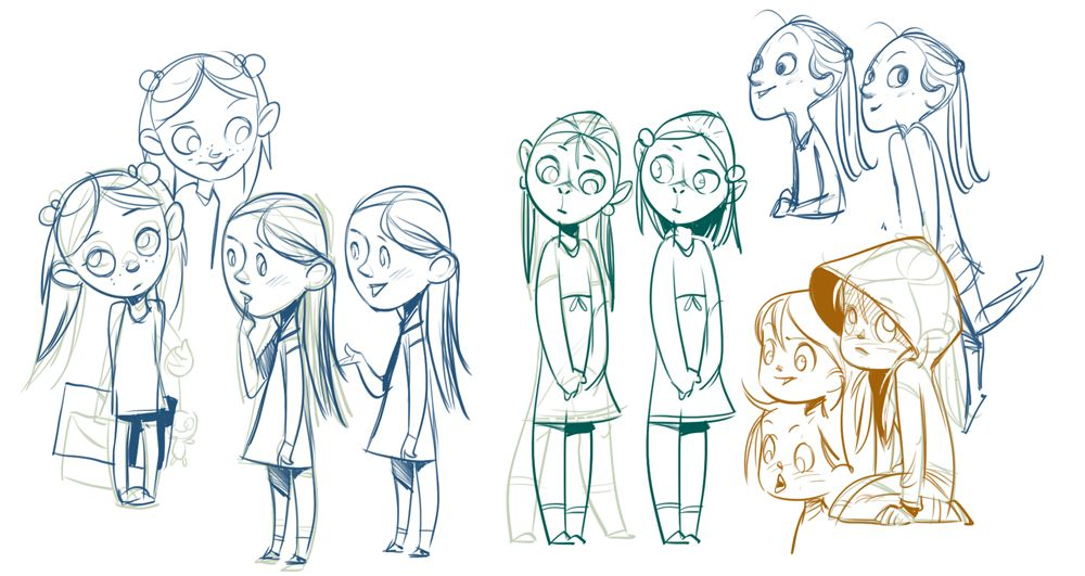 Character Design Quiz : A few test characters girls and fairies draw