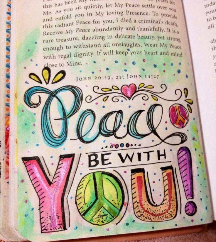 Bible journal idea For John 20:19