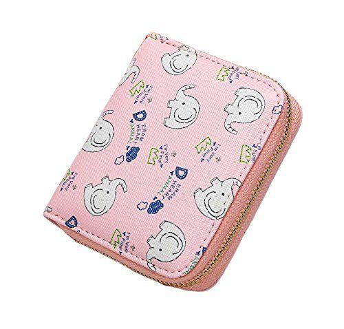 e986239f215ae Ylen Damen Klein Geldbeutel Elefant Reißverschluss Portemonnaie Kurz  Geldbörse PU Leder Tasche. Aus PU-