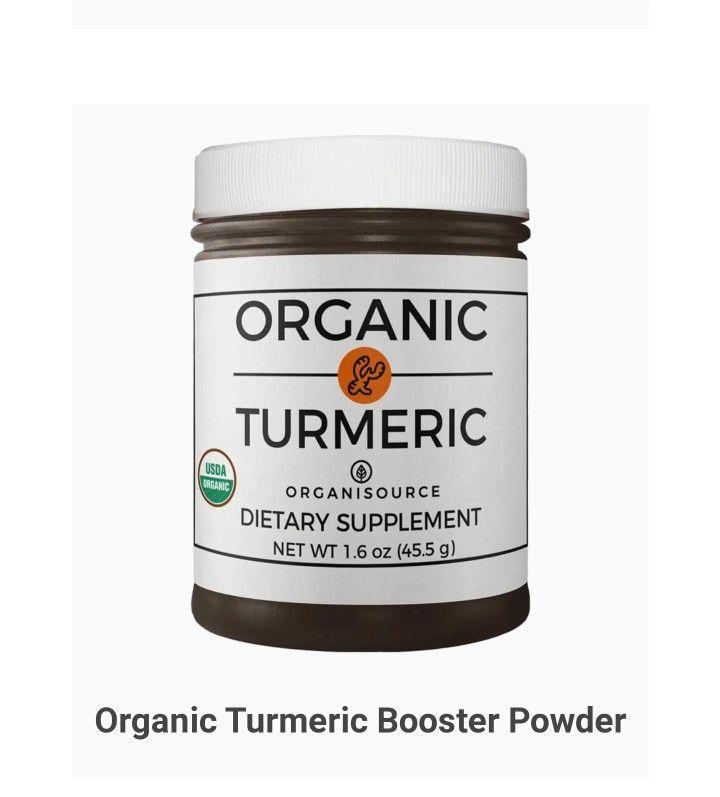 Organic Turmeric Booster Powder   (Discount Code: Walty002) ..... #turmeric #inflamation #nongmo #certifiedorganic #ad