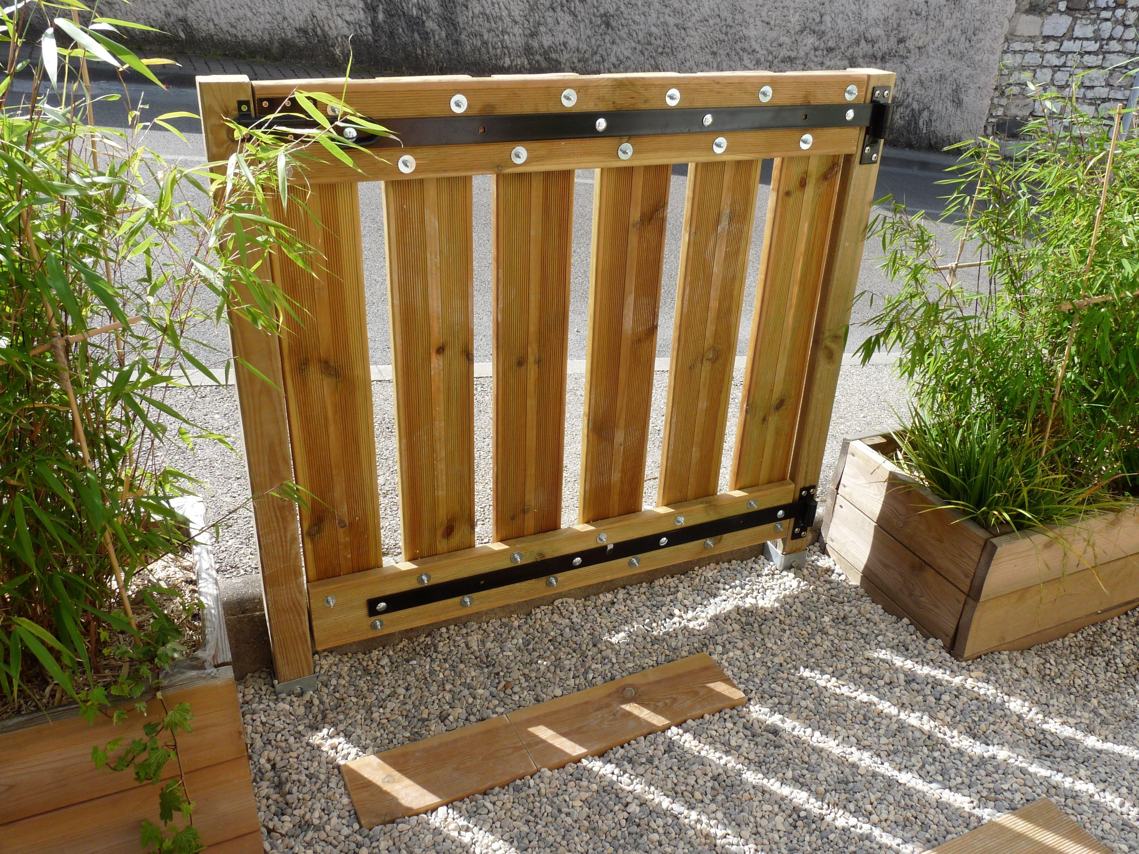 Portillon Terrasse Mes Creations Bois Et Autres Portail Coulissant