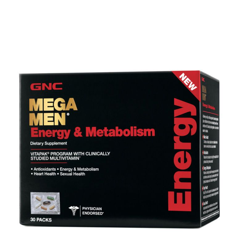 Gnc Mega Men Energy Metabolism 30 Packs Buy Direct From Gnc