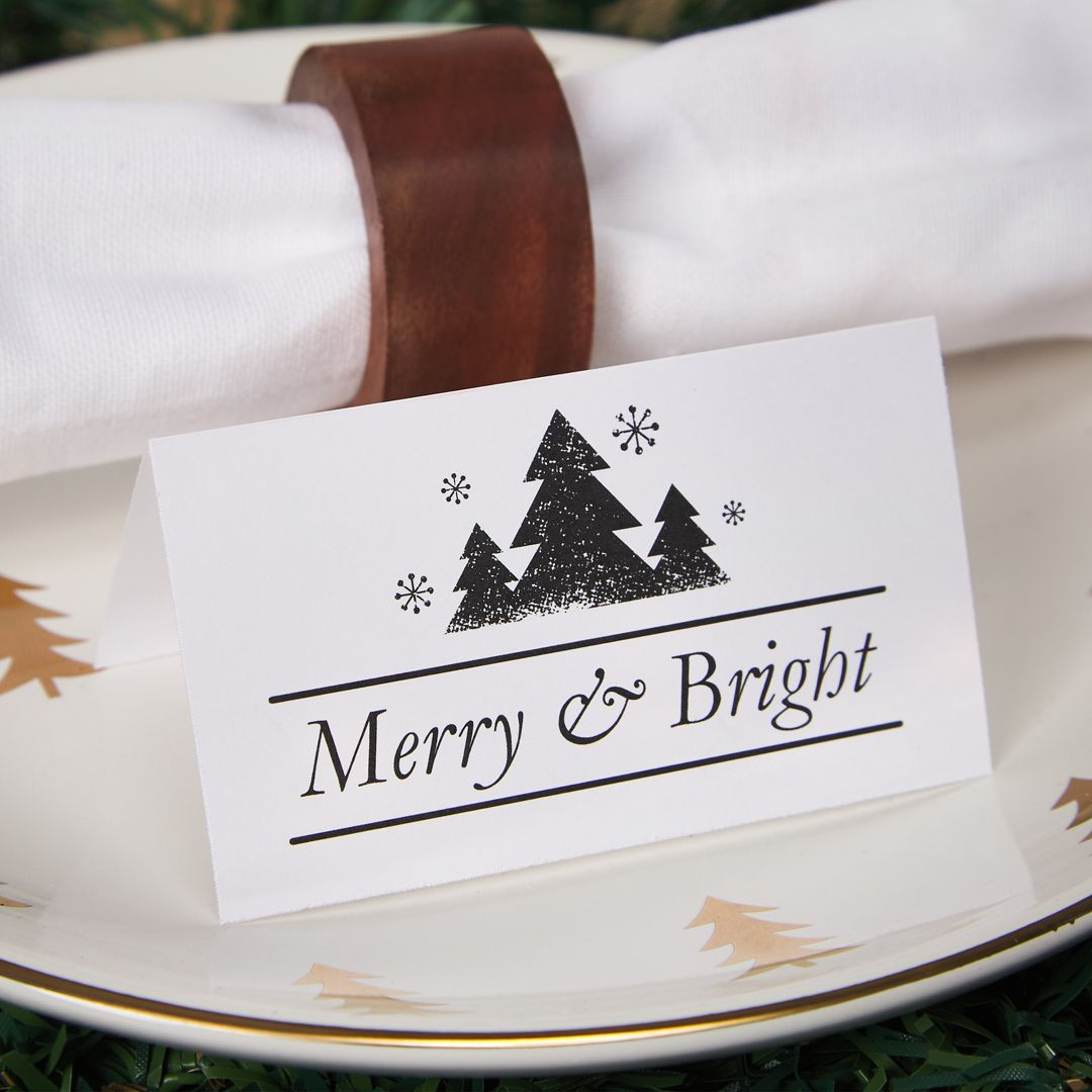 Table Decor Ideas For Christmas Tent Cards Christmas Dining Table Decor Place Card Template