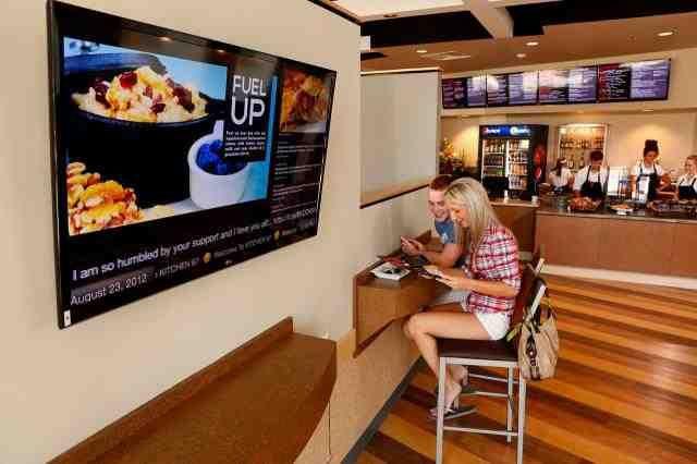 Restaurants and tech firms partner via digital menu boards