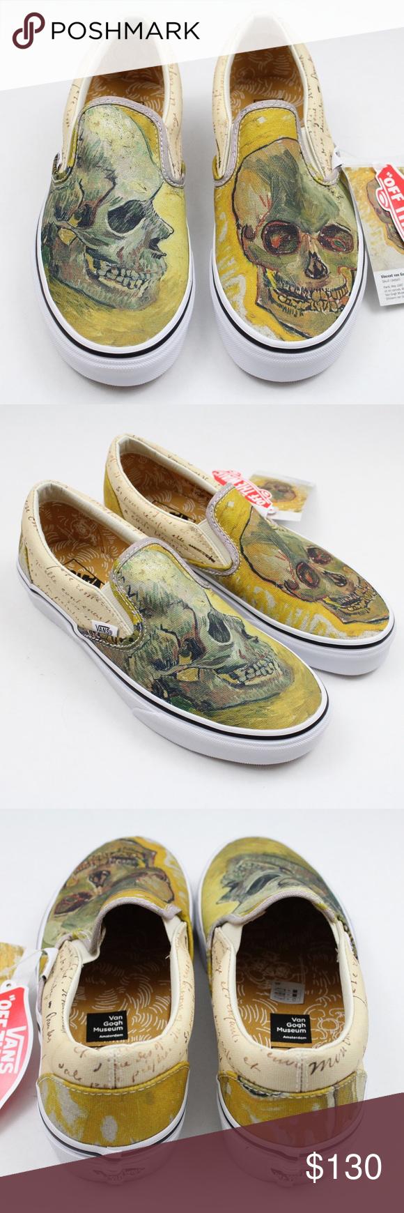 Vans Vincent Van Gogh Skull Classic Slip On Vans Vans Classic Slip On Sneaker Slip On