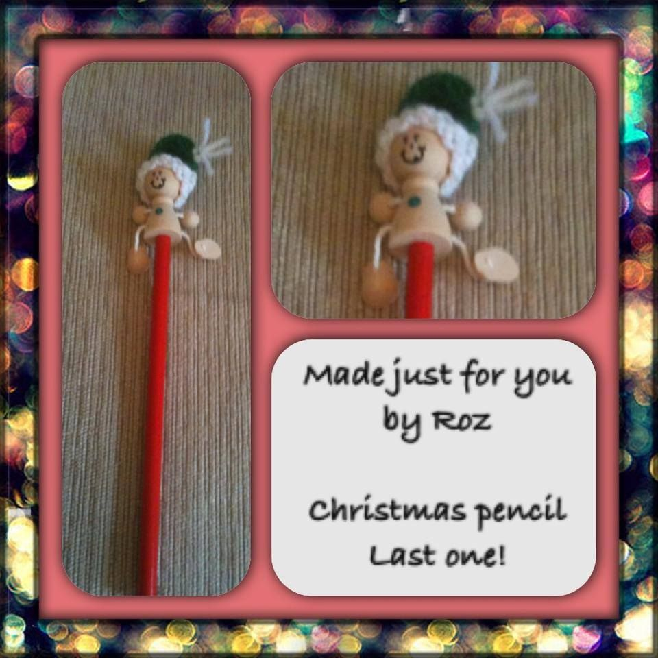 Christmas pencil topper
