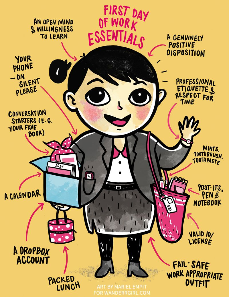 what to bring the first day of work - Google Search | Work ...