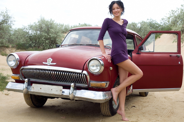Women Girls Amp Cars Woman Style Mood Car Classic Car