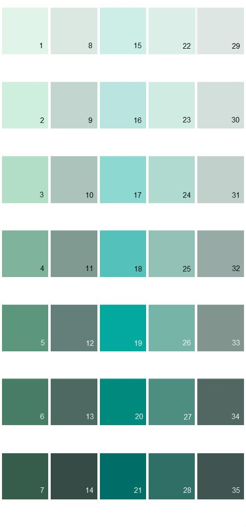 I Like 18 Behr Paint Colors   Colorsmart Palette Aqua Sweet Sea Emerald  Balmy Eucalyptus Leaf